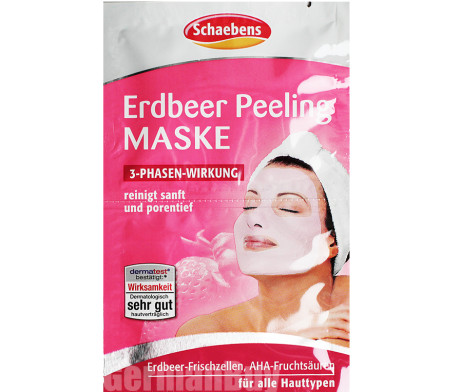 Schaebens Strawberry Peeling Mask from Germany
