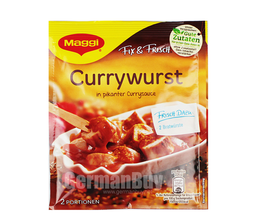 Maggi Fix & Fresh Currywurst | Buy German | {Maggi fix 18}