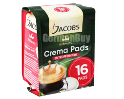 Jacobs Kronung Decaffeinated Crema Coffee Pods, from Germany
