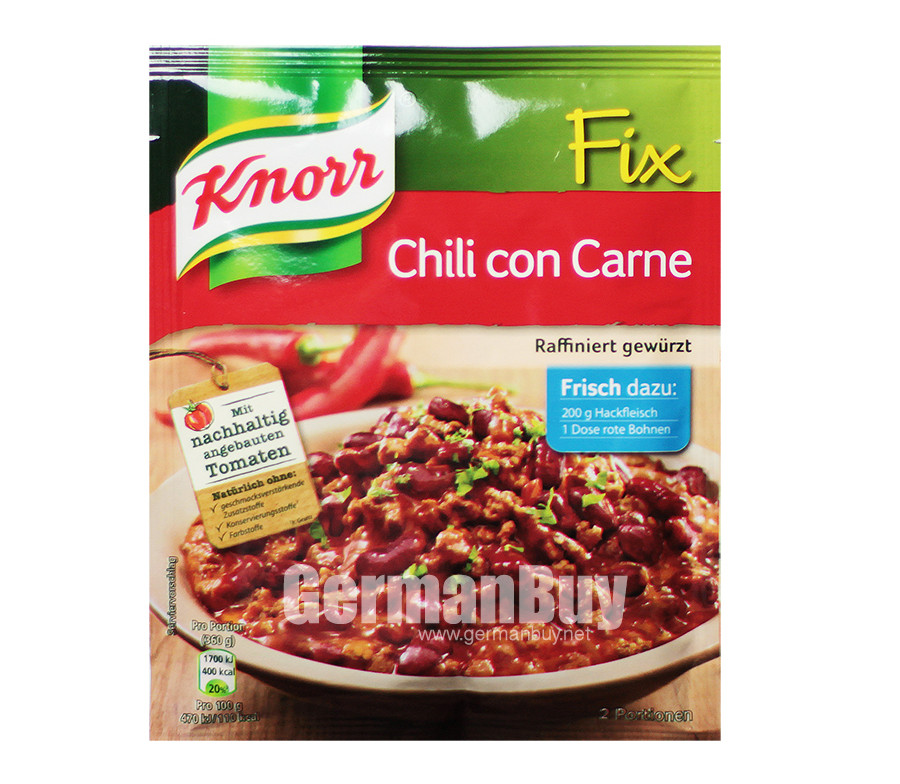 Knorr Fix Chili Con Carne Mix | Buy German | {Knorr fix 80}