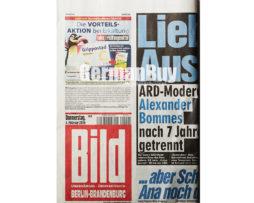 Bild Berlin-Brandenburg, German newspaper, printed version, in german language
