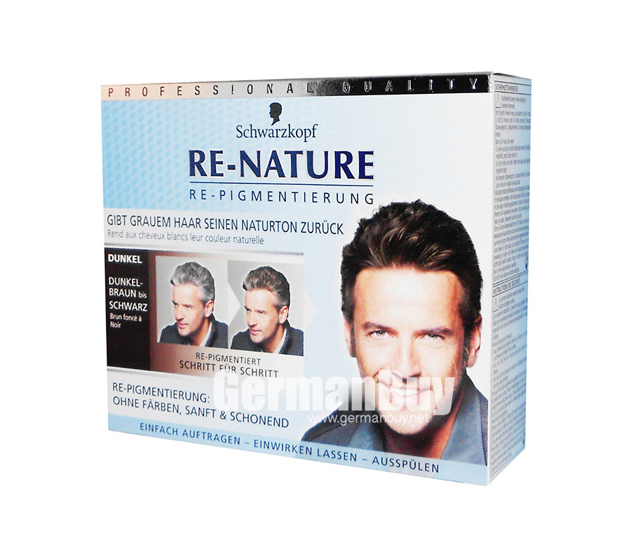 Schwarzkopf Re-Nature – Anti Gray Hair – Men\'s Natural Coloring Kit ...