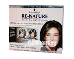 New brilliant innovation of restoring your real hair color: Schwarzkopf RE-NATURE - Anti Gray Hair - Women's Natural Coloring Kit Brown/Black, from Germany. For restoring Brown/Black Hair