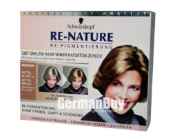 New brilliant innovation of restoring your real hair color: Schwarzkopf RE-NATURE - Anti Gray Hair - Women's Natural Coloring Kit Blonde/Brown, from Germany. For restoring medium Blonde/Brown Hair