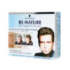 New brilliant innovation of restoring your real hair color: Schwarzkopf RE-NATURE - Anti Gray Hair - Men's Natural Coloring Kit Blonde/Brown, from Germany. For restoring medium Blonde/Brown Hair.