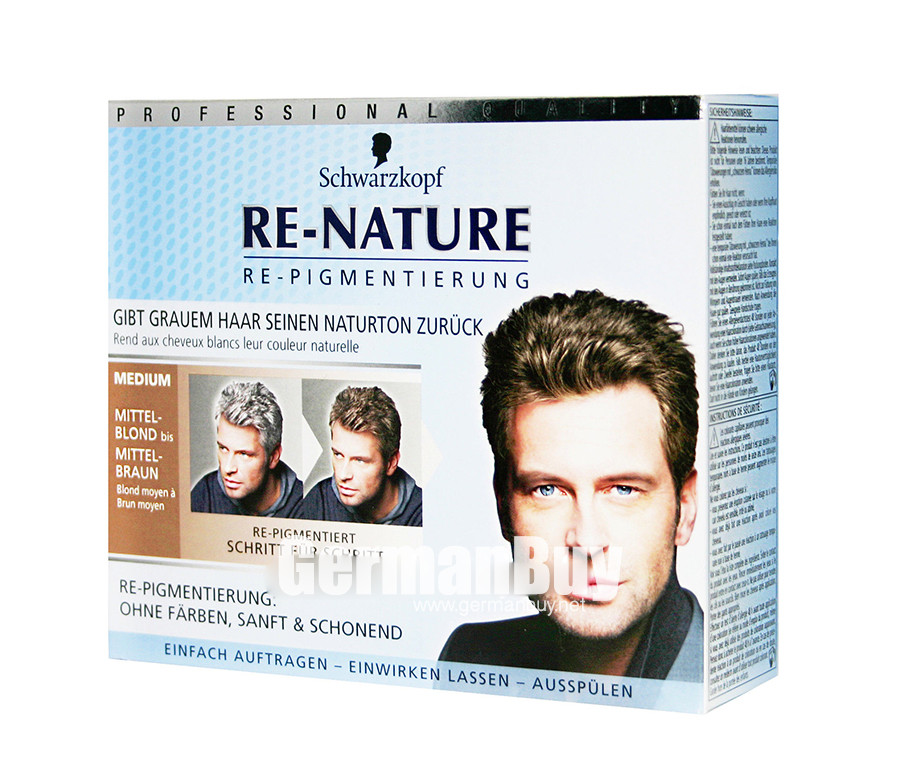 Schwarzkopf Re Nature Anti Gray Hair Mens Natural Coloring Kit