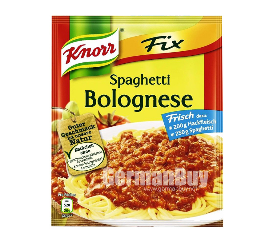 Knorr Fix Spaghetti Bolognese Sauce Mix | Buy German | {Knorr fix 32}