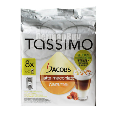 Tassimo Jacobs Latte Macchiato Caramel Coffee Capsules