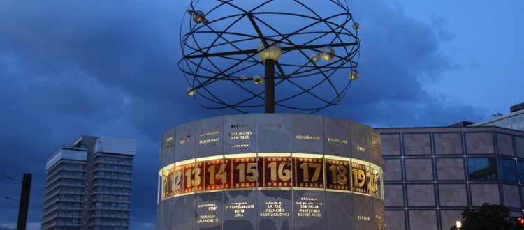 Berlin Alexanderplatz World Time Clock