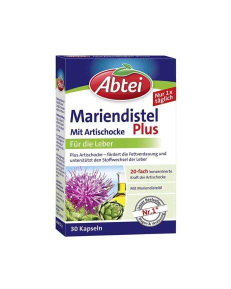 Abtei Milk Thistle Oil Capsules With Artichoke And Vitamin E