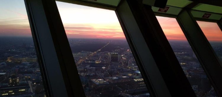 View from the TV tower in Berlin-Mitte