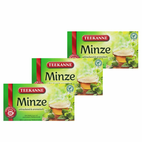 3x Teekanne Mint Peppermit Tea Minze Herbal Tea Bags
