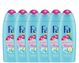 6x Fa Summertime Moments Shower Gel Cucumber Water Freesia