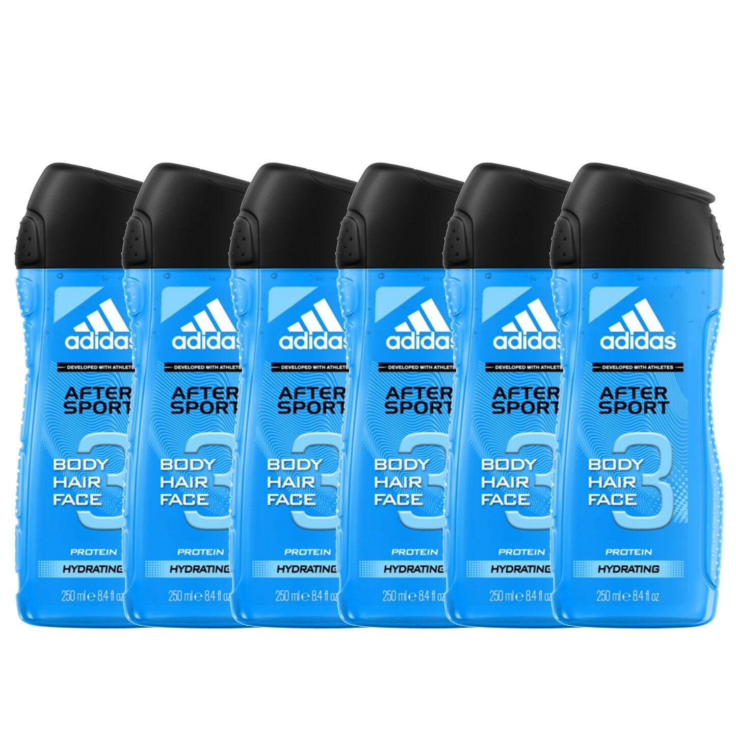 partícipe Elástico perjudicar  6x Adidas After Sport Shower Gel Hair & Body – 250ml / 8.45 fl oz | Buy  German
