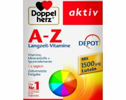 DOPPELHERZ A-Z Multivitamin Depot Supplements with Vitamins Minerals & Trace Elements 40 Tbl
