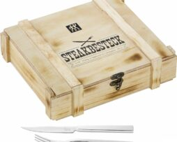 Zwilling Exclusive Steak Fork & Knifes Set In Wooden Box
