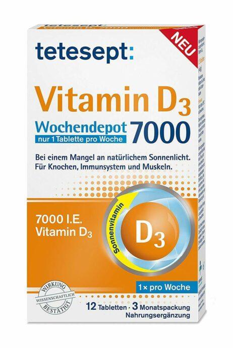 tetesept Vitamin D3 7000 I.E. tablets from Germany