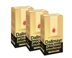 Dallmayr Prodomo decaffeinated Coffee German Ground Coffee 3 x 500g / 17.6 oz. = total of 1500g / 52.9 oz.