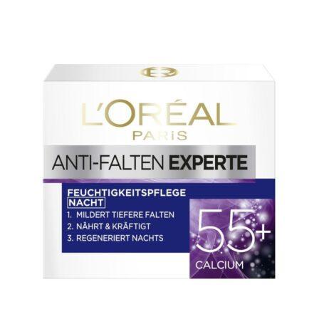 L'Oréal Paris 55+ anti-wrinkle night cream moisturizer