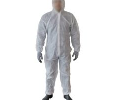 Disposable Boilersuit Coveralls Lab Coat Overall Polypropylene White, Size M