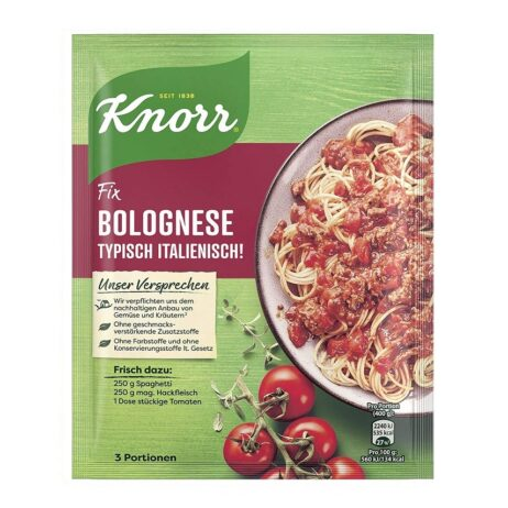 Knorr Fix Bolognese Typically Italian