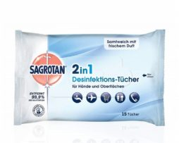 agrotan 2in1 disinfectant wipes, hands and surfaces