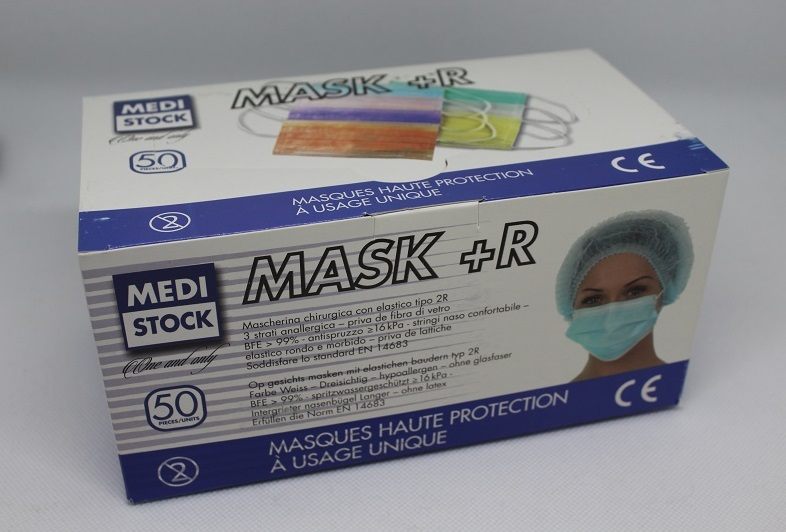 100 pack surgical disposable face masks with elastic ear loop 3 ply