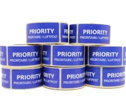 Priority Air Mail Labels