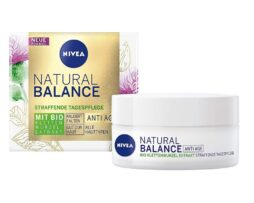 NIVEA Natural Balance Day Cream Anti-Age Firming Care with organic burdock root extract