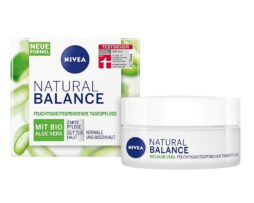 NIVEA Natural Balance Day Cream with organic aloe vera for moisturizing day care