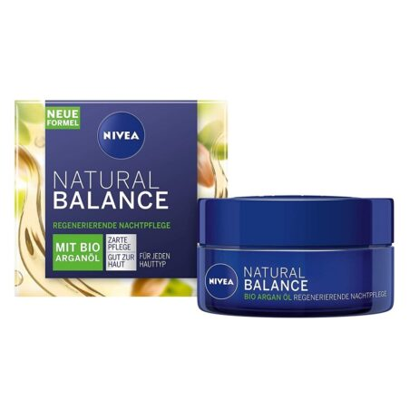 NIVEA Natural Balance Night Cream with organic argan oil