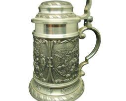 SKS Zinn 95% Cup Vintage Pewter Tankard Lidded