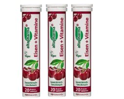 altapharma Iron and vitamins Effervescent Tablets with sour cherry flavor from Germany