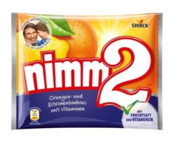 nimm2 orange and lemon candies with vitamins