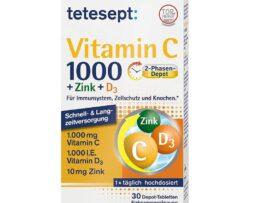 tetesept Vitamin C 1000 + Zinc + Vitamin D3