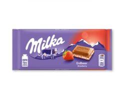 Milka Chocolate Strawberry Cream Bar