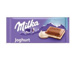 Milka Yogurt Chocolate bar with a creamy yogurt filling